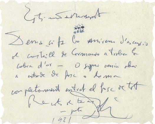Resultat d'imatges de escrituras salvador Dali